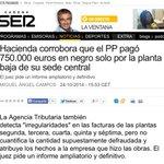 Esta semana el PP arrasa: ahora Hacienda certifica el pago en negro de obras en Génova. Y Mariano leyendo el Marca. http://t.co/nu4RkLgYQS