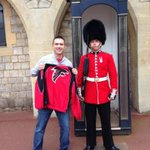 #RiseUpFriday (presented by @YP) in London! Who has their Falcons gear on today? http://t.co/fKXEDUYYY1