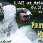 There is a first time for everything! We look forward to playing the Arkansas Razorbacks tomorrow. #GoBlazers http://t.co/D3OHIxozjt