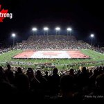 The @Ticats have lent their Canadian flag to the @REDBLACKS to use at tonights game. We are all #CanadaStrong http://t.co/1UUP0YRgkY