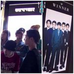 Team A->WINNER When they were standing infront of YGs line up artist n now theres their pic #THANKYOUFORBEINGWINNER http://t.co/so1AKzyh5h