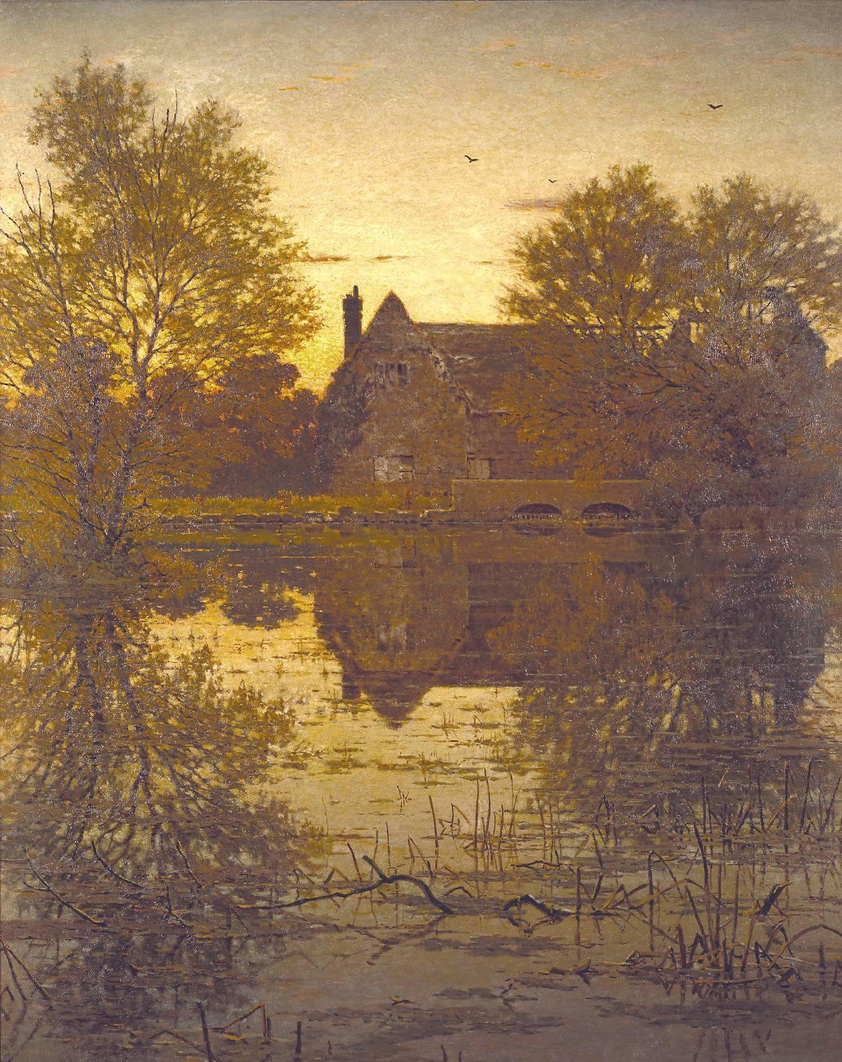 Soak up the Autumn sunshine this weekend, like George Dunlop Leslie's 'The Deserted Mill' #TateWeather http://t.co/zGP2JEpnoc