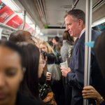 Great photo opp for Mayor de Blasio this a.m. on the subway to calm neurotic NY straphangers #Ebola #EbolaInNYC http://t.co/MPqEELrsHk