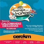 Ponle humor al tranque, con las calcomanías de @Revistacerokm e Búscalos en las sucursales de Corprensa http://t.co/mV5iINufn9