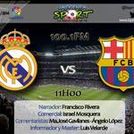 RT @LaPrensa_Sport: HINCHAS del #RealMadrid o del #FCBarcelona, VIVAN el clásico español ESCUCHANDO [100.1FM] o en http://t.co/oMFI7N5PGx http://t.co/B9dV3dMXRM