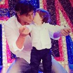 RT @iam_mira: This is my fav pic for now..so cute papa and son. @iamsrk and AbRam Khan!! show some love...#SRKRulesHeartsWithHNY http://t.co/2MSdtPmXKN