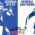 A #FunBelt rivalry begins in the @GeorgiaDome! @GSAthletics_FB at @GSUPanthers today on @ESPN3! #FunBelt #GASOvsGSU http://t.co/iVsM0guc3J