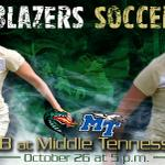 RT @UABathletics: .@UABWomensSoccer travels to Middle Tennessee on Sunday #GoBlazers | http://t.co/4Vb5NmQP6Z http://t.co/mMYb1ZeDBD