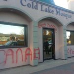 Cold Lakes mosque has been vandalized. http://t.co/ZTp9Td6umR