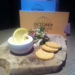 Wow, just tried the #SmokedHaddock&SalmonRilettes @OctoberGlasgow #delicious #MarketMenu #food #Glasgow http://t.co/l2nqgQqt1e