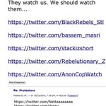 This is not a game. We are being watched and targeted. #Ferguson http://t.co/gVm6JCeoMy