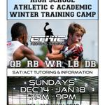 Check This Out! Winter Football Training Camp #SAT #tutoring included! #NFL #NCAA #Pittsburgh #ACT @totaltutor http://t.co/v8s8L4D2VY