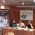 Pistoletazo de salida de @abycine con Raúl Arévalo y Carlos Vermut respondiendo a los medios de comunicación. http://t.co/QDGU7LOzNO