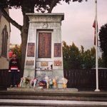 Honour Guard in #Nanaimo this morning. #CanadaStrong #WeRemember http://t.co/HLPvXDEUOC