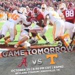 Twenty-four hours from now @AlabamaFTBL & Tennessee kick off in Neyland Stadium on ESPN2! #RollTide http://t.co/addLtyFF4i