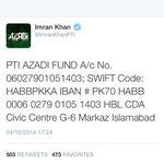 RT @AnilaButtPTI: For Pakistan #DonateToPTIforDharna http://t.co/1oPfnVzsfF