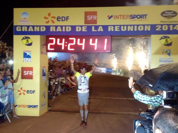 François D'Haene winner of Diagonale des Fous 2014 - Grand Raid de la Reunion. Congratulations! http://t.co/nk7dd6LUAr