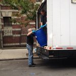 RT @mirelaiverac: Bio-cleaning crew getting ready to take out Doctor Spencers things. #EbolaInNYC http://t.co/0DfKCfSGtj