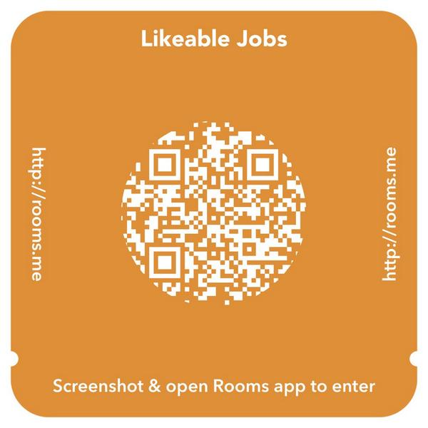 Playing with the new Rooms app by Facebook! Also looking for people to join @LikeableMedia! Join me! #LikeableJobs http://t.co/rQTtUpbXGx