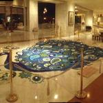 Wow! Poth (glass bead) Diwali rangoli @Taj Palace lobby--6 artists wrkd 16 hrs nonstop! Design: Taj hkeeping manager http://t.co/sqOfgdgqAw