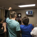 Emergency department nurses at Texas Health Dallas watch and react as Nina Pham is released from @NIH http://t.co/uAtcJeCQG6