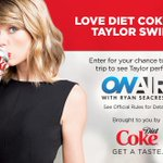 RT @OnAirWithRyan: Love @TaylorSwift13? Enter to see Taylor in concert + roundtrip accommodation from @DietCoke! http://t.co/FlAD50UhZ2 http://t.co/3Xs0PHUcyt