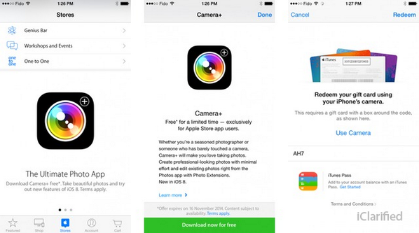 Apple Offers Camera+ as a Free Download Via the Apple Store App... http://t.co/qvZqpgisNl http://t.co/6mfKuoDn9t