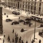 #MadridVintage: Volvemos a quedar en la Puerta del Sol (1953), con esta foto de Gustavo Wilson Perez Brandão #Madrid http://t.co/fVmol9eBlh