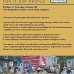 RT @BrightonIndy: Manifesto for older people in #Brighton+#Hove: 6.30pm on Thurs, Oct 30, at Brighthelm Centre: http://t.co/RJTiomrxJl. http://t.co/tqajRutFCc