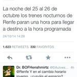 RT @juliolleonart: Hoy, en mi lista de CMs jachondos: @Renfe Quienes para llegar a tiempo, pararán en mitad de la nada, una hora 0_0 http://t.co/Hi2EpMQ8au