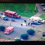 RT @realtimwilliams: #BREAKING: Reported 6 students shot in school shooting at Pilchuck High School in Marysville, WA. Pic: KOMO TV http://t.co/txlYjz7erR