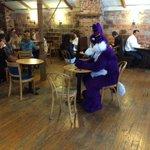 Odd morning at @themillcoffee #LNK http://t.co/vBC3tX6fWL