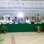 Encabeza @nunezarturo III Reunión de la CONASE, Grupo de Coordinación de Seguridad Pública de #Tabasco. http://t.co/DZihnEcnbm