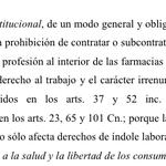 """"""" La @SalaCnalSV declara inconstitucional la prohibición de contratar a médicos dentro de farmacias. http://t.co/YngdDPZ53G"""" @Rocio_Rodrigz"""