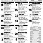 RT @GopherHockey: #Gophers lines for the home opener tonight vs. Bemidji State. http://t.co/zFWcmJQdMb