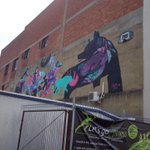 The pack of wolves from Mica Still in #gigatowndun stafford st #citypride :-) http://t.co/YOBun8YeZt