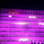 RT @Digicel_Jamaica: Light It Up Pink! Our building lit up PINK in support of Breast Cancer Awareness. #BreastCancerAwareness http://t.co/DuODCWHaxg