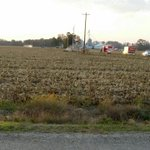 A Posey County resident submitted this photo to us of the plane crash in Posey County. http://t.co/dnPomqryqh