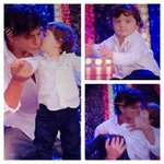 Special appearance of SRK with kid Abram on Happy New Year. #DiwaliWithHappyNewYear #PaisaWasoolHappyNewYear http://t.co/P6vXQ9WxWV