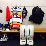 @ErieOtters heres a look at Devin Williams stall ready to go for tonights tilt in the Soo http://t.co/a4jUyYGd0y