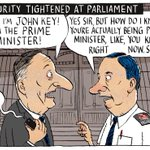 But Im John Key. Im the Prime Minister of NZ. #tightenedsecurity #dirtypolitics #nzpols My cartoon @PressNewsroom http://t.co/PzLzQZOgan