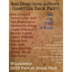 A book fair with local #SanDiego authors at @whistlestopbar - TOMORROW 3-6pm! #booklovers http://t.co/aGqgrYUcAQ