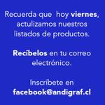 RT @Andigraf: ¡Recuerda! Todos los #viernes actualizamos y remitimos nuestros listados de productos. ¡Inscríbete! #Zofri #Iquique http://t.co/lo3diKHtEe
