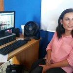 Yesenia Escoto, candidata a diputada en San Salvador por el partido GANA, denuncia acoso laboral. Foto J. Funes http://t.co/Xloobvy517