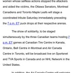 RT @dalter: More details about #leafs, #habs and #sens coordinated tribute tomorrow night. http://t.co/JH7TCvOwvB