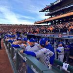 """""""@Royals: Getting close, dugout is ready. #TakeTheCrown #WorldSeries http://t.co/sGsu3h4Bl5"""" #BlueoKCtober"""