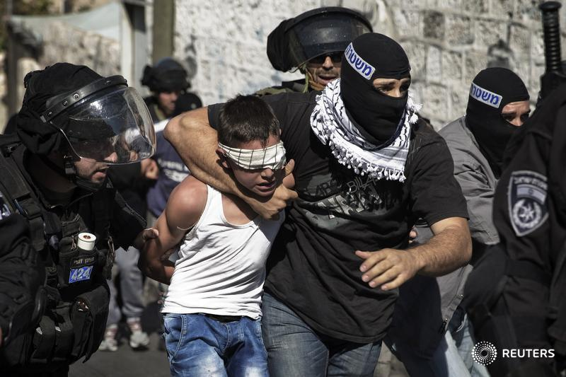 RT @Reuters: Israeli police detain a young Palestinian following clashes in Jerusalem. Editor's Choice: http://t.co/FdPBIlEsGH http://t.co/?