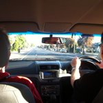 In the big red car on our way to the @PlayfordCouncil Second Hand Safari #garagesaletrail woohoo! http://t.co/IQ2YvzNUf6