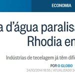 RT @RodP13: Prepare-se para a próxima etapa da falta dágua, SP: o desemprego! http://t.co/qCBVS8zcEY #PSDBsecouSP http://t.co/4wlLDBj83w