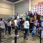 Sleepy Floyd and Dell Curry at the @Hanes Autograph Zone at #BuzzFest http://t.co/xvGc9IZQa1